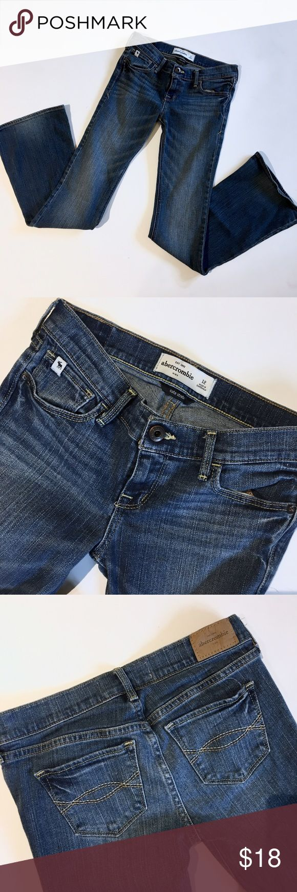 Abercrombie girls cute stretch flare jeans Excellent condition, no signs of wear. Add this to a bundle to save 15%. abercrombie kids Bottoms Jeans