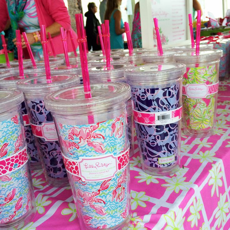 Lilly Pulitzer Tumblers with Straws $16