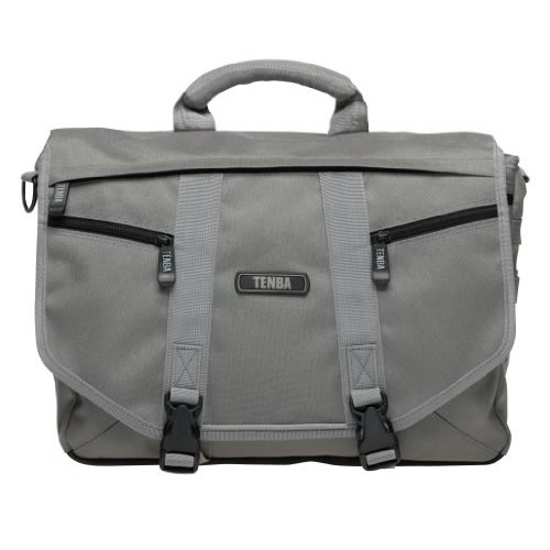 £69.95 TENBA Messenger Shoulder Bag (Platinum) - Large. The essence of urban – a sleek, lightweight, street-smart satchel that holds a ton, yet hugs your body, moves with you, and doesn't cramp your style. A removable photo insert allows you to convert it quickly from a camera bag to a general-purpose gym bag, book bag, school bag or briefcase.