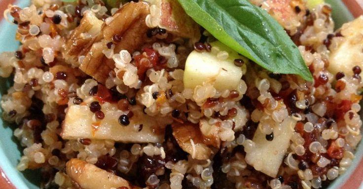 Quinoa, Apple & Cranberry Salad with Maple Dressing