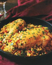Arroz con Pollo Recipe. Here's a perfect all-in-one meal—the chicken, rice, and vegetables simmer together, enhancing each other and giving the cook a break.