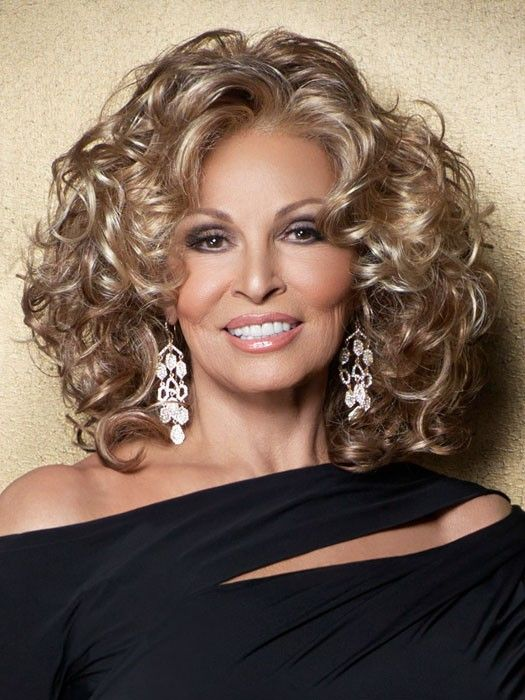 Glam Slam by Raquel Welch: Color R13F25 Praline Foil (Neutral Medium Brown with Pale Gold highlights around the face)