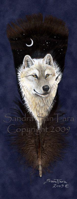White Wolf Spirit by ssantara.deviantart.com on @deviantART