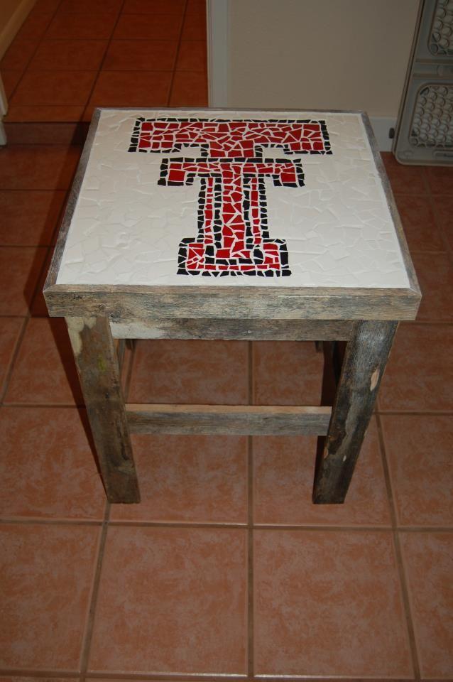 Texas Tech Textile Table - very cool!
