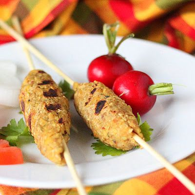 Tempeh Seekh Kebab. Vegan, Glutenfree