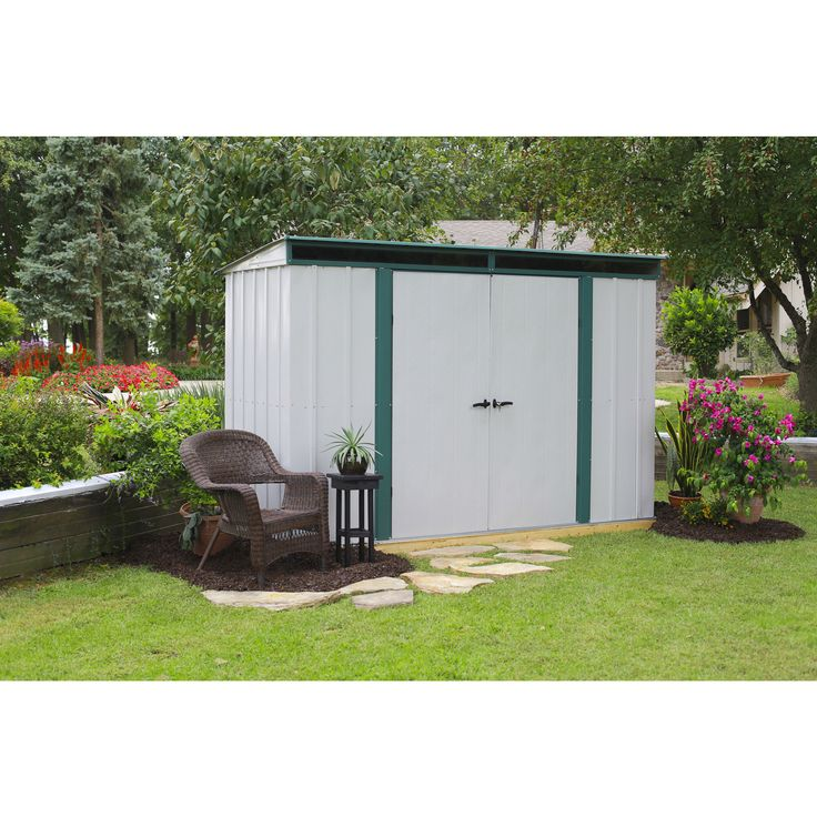 Arrow 10' x 4' EuroLite Pent Metal Storage Shed