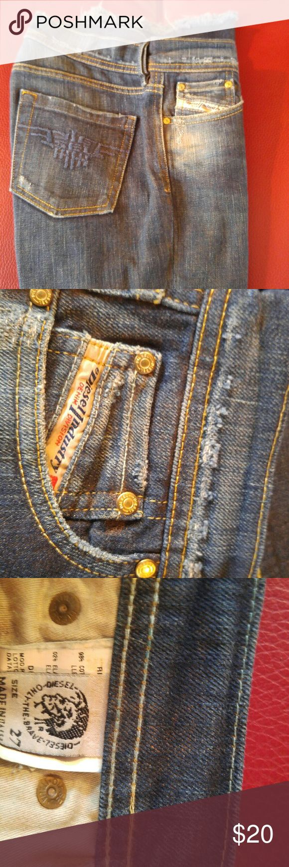 DEISEL JEANS FOR YOU Blue denim Deisel jeans, like brand new. I paid over 150$ for them, they don't fit me anymore....and they're really priced to sell. DEISEL Jeans