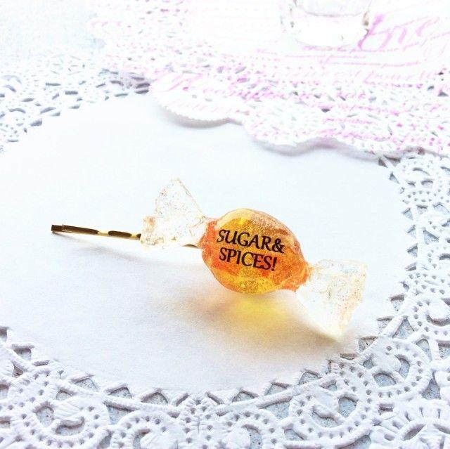 シトロンキャンディのヘアピン by nut-meg アクセサリー ヘアアクセサリー