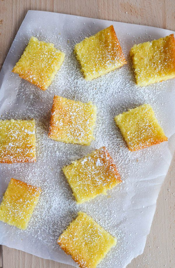 TWO INGREDIENT LEMON BARS! There's a reason this recipe has received hundreds of thousands of hits. Mix the two magic ingredients together and bake at 350 for 30 minutes. AND they're only 168 calories.