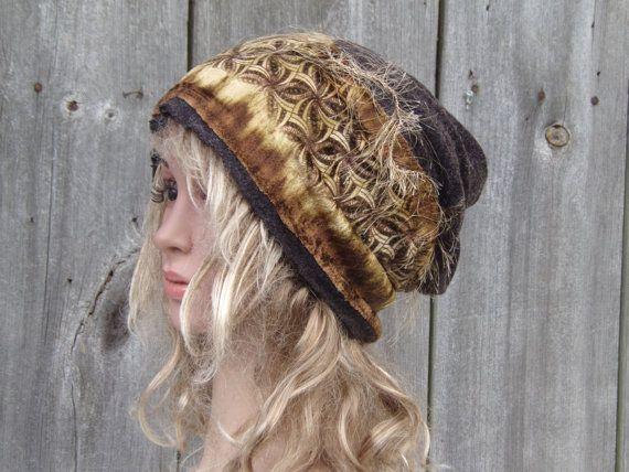 TAM LADIES Women Beanie Hat Mom Beanie Hat Wool knitwear Autumn Winter Fashion Hat Unique headdress Cool Tam Cap Boho Modern Hippie