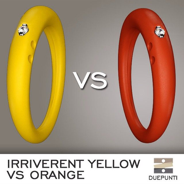 Color: Challenge. Irreverent Yellow to remember summer or orange to welcome autumn? Which one do you prefer? #DUEPUNTI #color #jewels #instacool #unexpected #diamond #favouritecolor #challenge