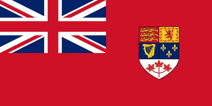 The Old Canadian Flag before Prime Minister Lester Pearson decided to change it to identify as Canadians