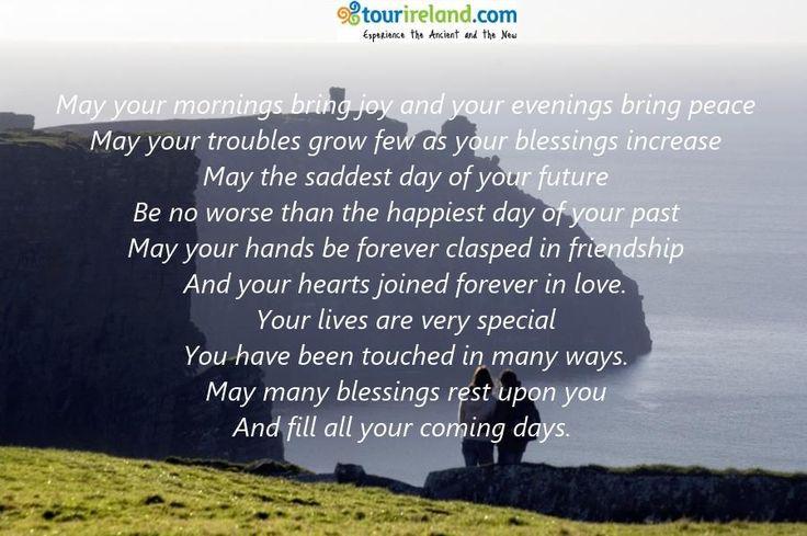 Irish Wedding Blessing Words Of Wisdom Pinterest