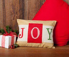 JOY Pillow FREE Pattern. Christmas ... & 733 best Quilt - Christmas ✄ images on Pinterest | Christmas ... pillowsntoast.com