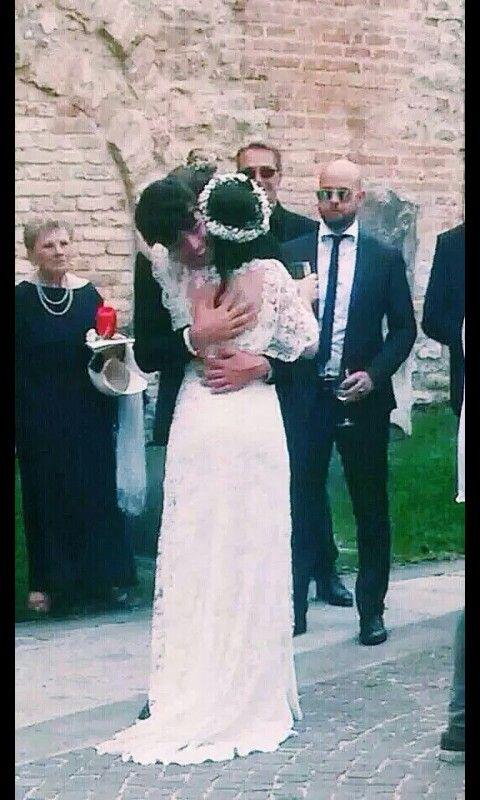 Stash e Elisa al matrimonio di lei. Che carini