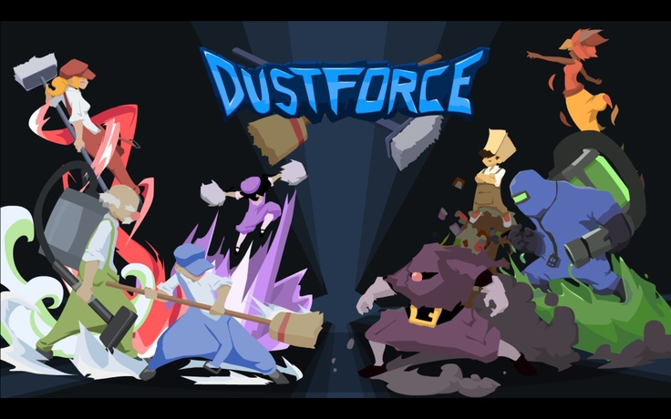 Dustforce (title screen) - awesome character design