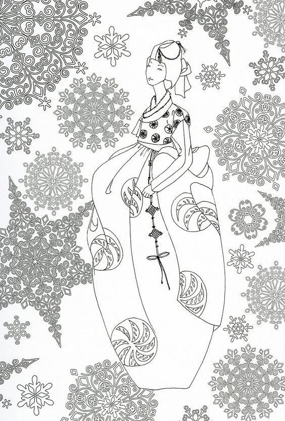 adult coloring page japan