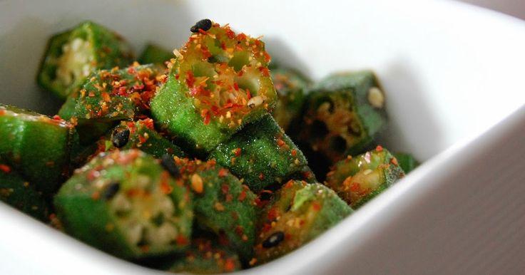 Fiona's Japanese Cooking: Japanese stir-fried okra vegetable recipe Okra