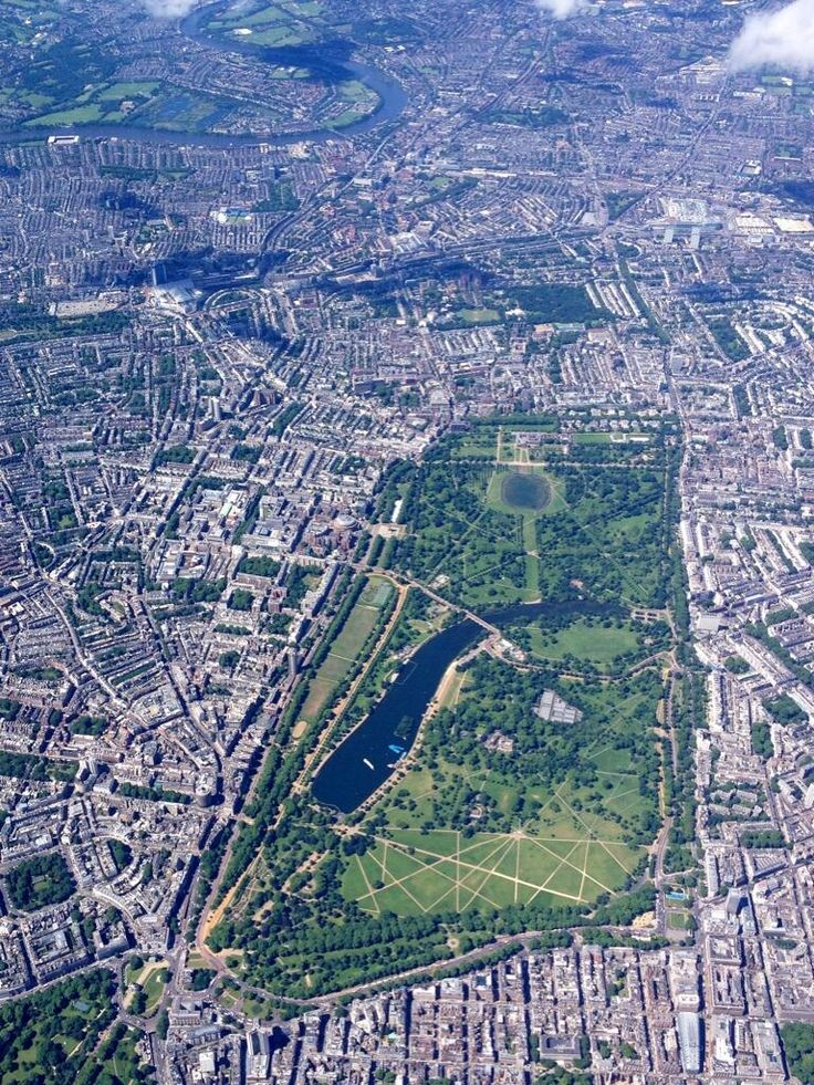 U.K. Hyde Park from a helicopter, #LondonMoments How perfect does this look!