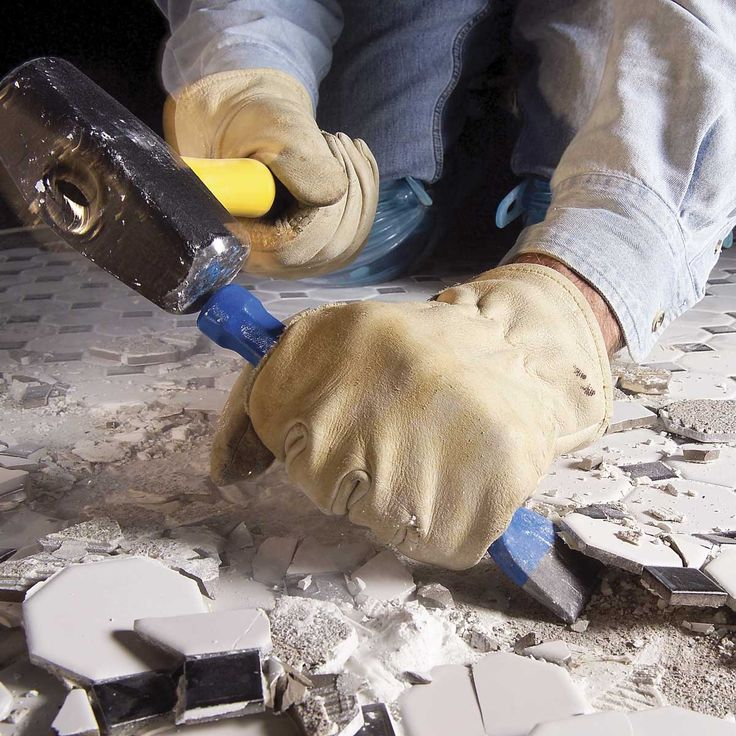 How to remove tile from a concrete floor tile removal
