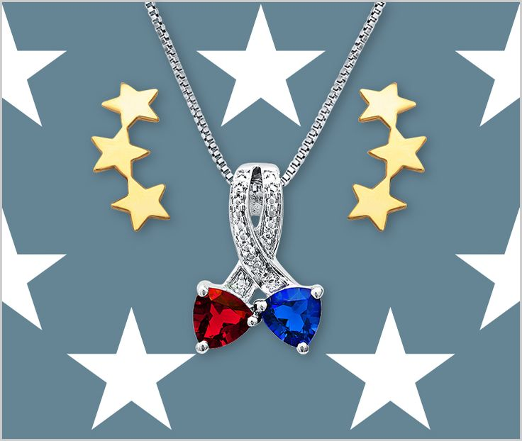This red and blue necklace is a patriotic gift that will help you celebrate the nation's birthday in style!