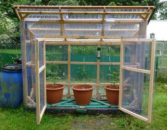 Bau eines stabilen Tomatenhauses aus gehobelten Latten Holz,Latten,Gewächshaus,Tomatenhaus