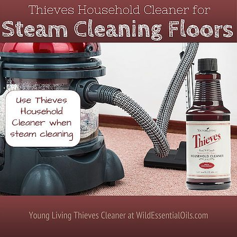 Mix 1 capful of Thieves Household Cleaner with about 6 cups of water and add to carpet or steam cleaner. Clean rugs and carpets to remove dirt and grime. Be sure to spot test in an inconspicuous location first. http://www.wildessentialoils.com.au