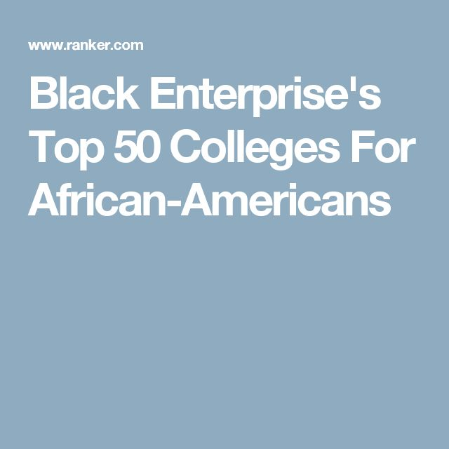 Black Enterprise's Top 50 Colleges For African-Americans
