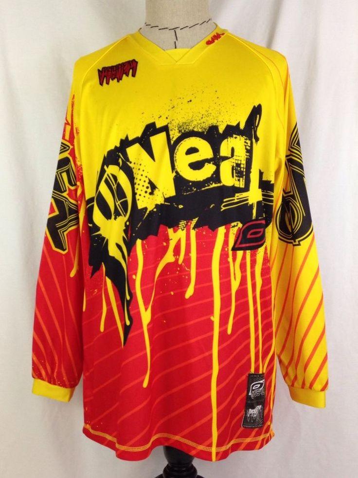 O'Neal Mayhem Mens Motocross Jersey L Size Long Sleeve Shirt MX Yellow Red Black #ONeal #Motocross #MX #Ebay #EbaySeller #EbaySellers #EbayDeals #EbayStore #EbayLife #EbayReseller #Reseller #ResellerLife #Thrift #Thrifting #ThriftingLife