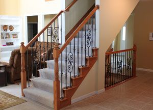 Indoor Railings and Banisters | Stair Parts: Newels, Balusters, & Handrails for Staircases