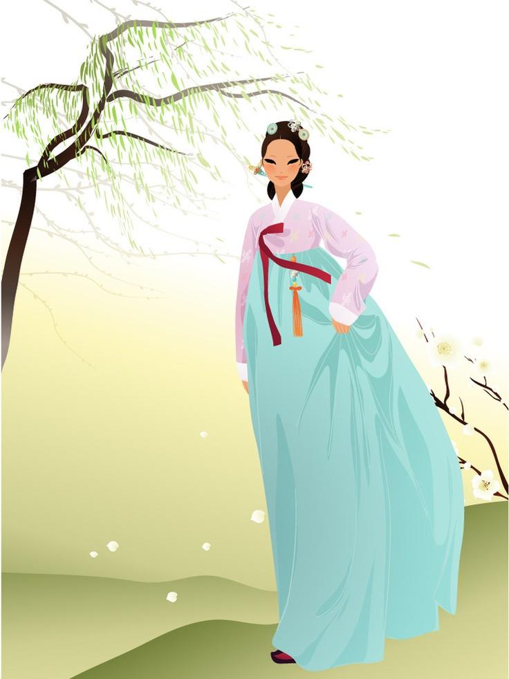 Hanbok Illustration #art #illustration #fashion #pastel #korean
