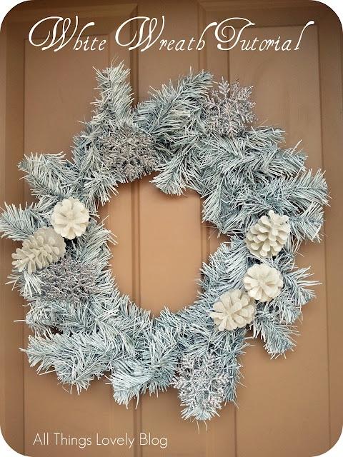 Christmas Wreath Tutorial A Pretty White Wreath You Can