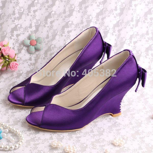 (20 Цветов) Бестселлеры Обувь Фиолетовый Танкетке Сандалии Открытые Пальцы для Свадьбы(China (Mainland))