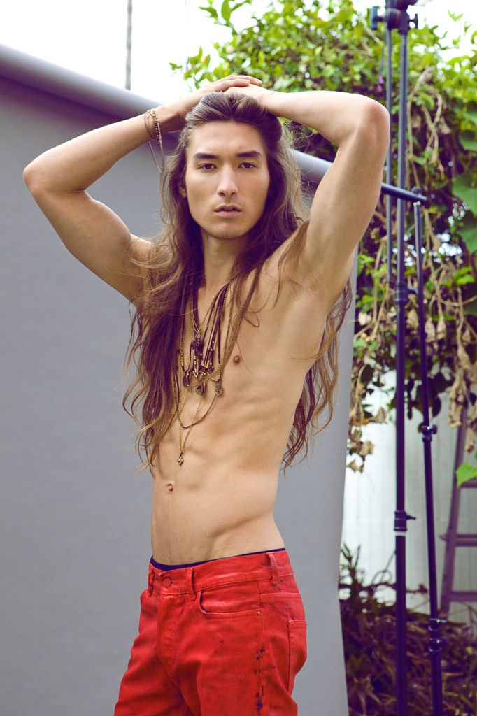 long-hair-guys:  Long Haired Male Model Taejung for James-Paul Ancheta Men's Jewelry