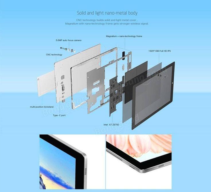 Original Box Teclast Tbook 16 Power Intel Atom X7 Z8750  11.6 Inch Dual OS Tablet PC With Keyboard