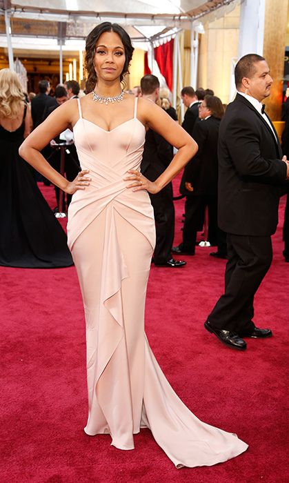 All the red carpet looks from the 2015 Oscars: Zoe Saldana in Atelier Versace. Photo: Getty