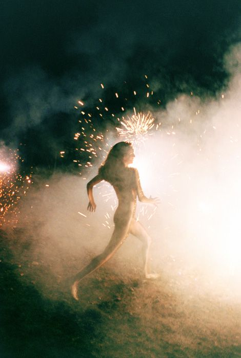 "I want this as a gif, and I would loop a few bars of the chorus from The Boss's ""I'm On Fire"" to it.  Because.  ~ c. Ryan McGinley"