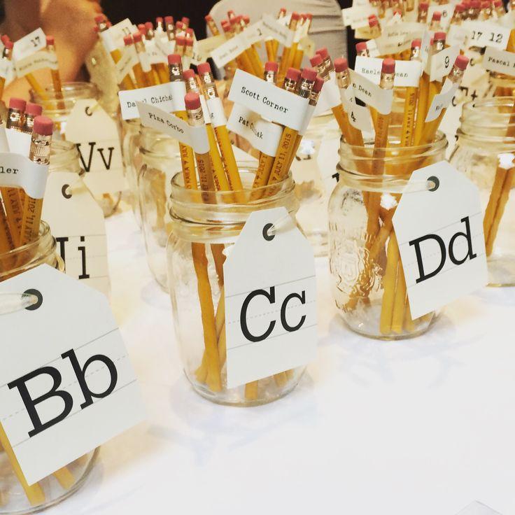 Teacher Theme Wedding Escort Cards - Edmonton Wedding                                                                                                                                                                                 More