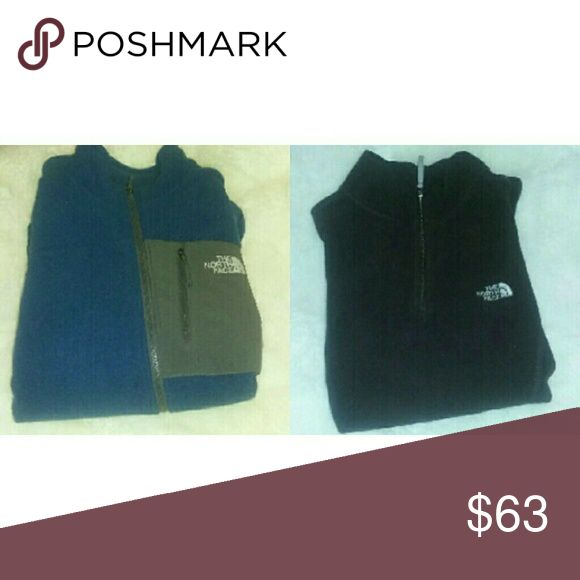 Priced to sell Blue North face Three pockets  Size M/M Full zip  Gray and blue  Very thick  (All items will be washed at laundromat before shipping due to the fact that I have fur babies!) North Face Tops Sweatshirts & Hoodies