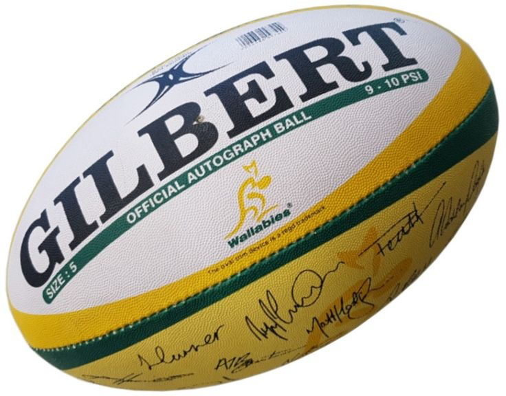Gilbert Rugby Wallabies Rugby Ball Official Autograph
