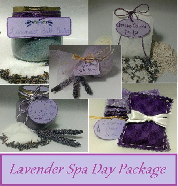 Check out this item in my Etsy shop https://www.etsy.com/listing/238505976/lavender-spa-day-package-tub-tea-bath