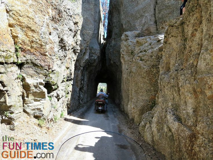 This was the narrowest tunnel we rode through - Needles Highway near Spearfish…