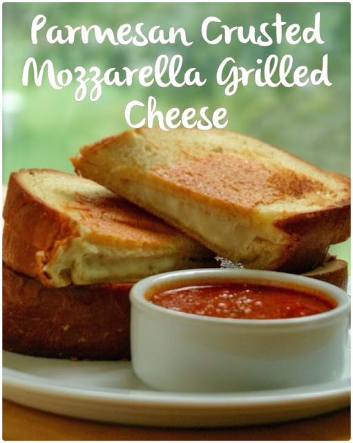 A Little Bit Crunchy A Little Bit Rock and Roll: Parmesan Crusted Mozzarella Grilled Cheese