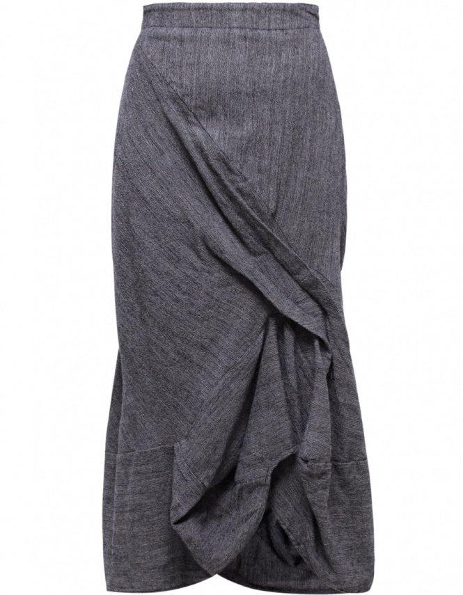 Grey Fine Wool Skirt