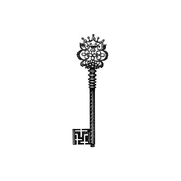 Tattly: Designy Temporary Tattos - Crown key