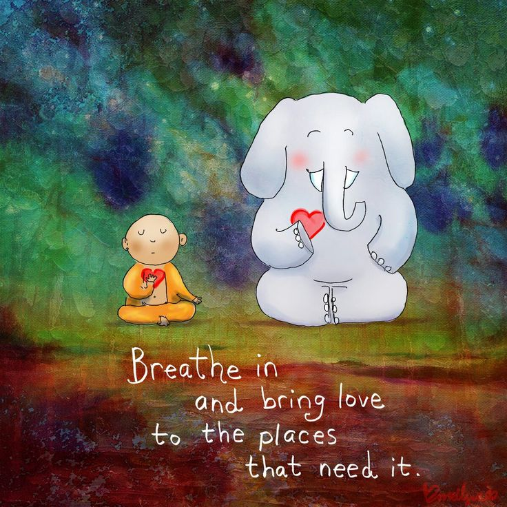 Lots of love in lots of love out ~ Buddha Doodles