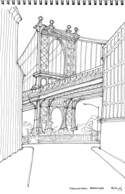 Architectural Drawings Of Bridges top 25+ best bridge drawing ideas on pinterest | bridge painting