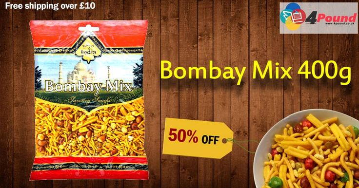 Buy Bombay Mix Savoury Snacks get 50% Off  Order Now: http://www.4pound.co.uk/bombay-mix-400g