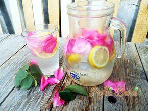 Limonada naturala cu trandafiri si miere de albine