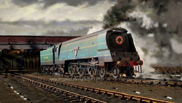 steam trains british in paintings - Modelling Spam Cans (Bulleid Pacifics) - Page 3 - Southern Railway Group - RMweb www.rmweb.co.uk Bulleid_Accelerating_Junction_